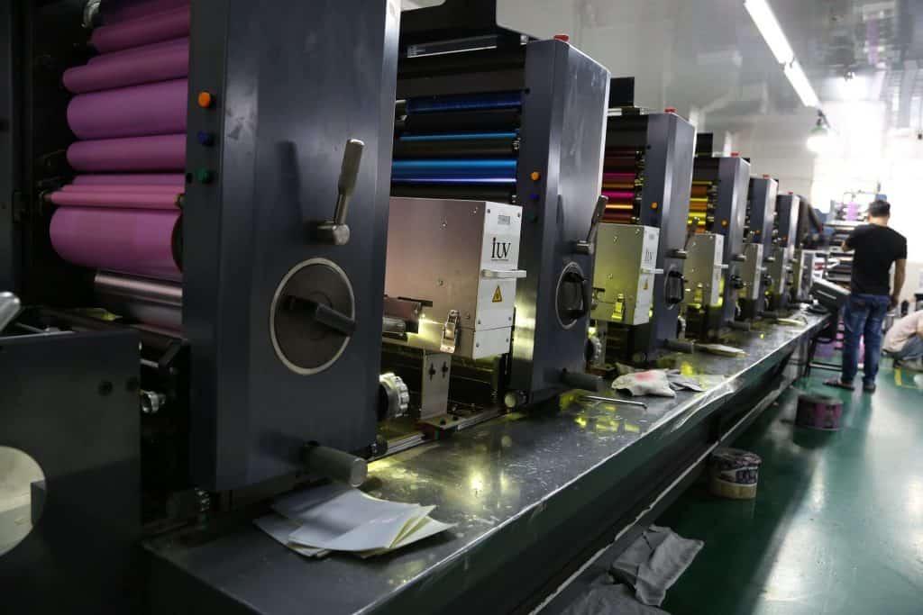 chaine d'imprimante offset